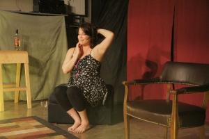 Tonya Jone Miller in A Story of O's. Photo credit: Jon Gottshall