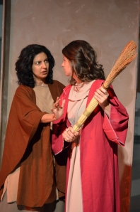 Deborah (Nimet Kanji) and Sarah (Meaghan Sheehan) in Tobit. Photo credit: Olivia Winczura