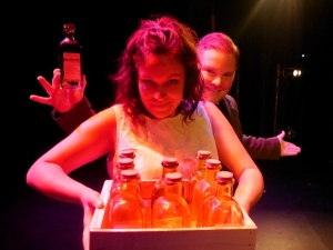 Hannah Gibson-Fraser and Zach Council in SNAKE OIL, photos by Sophie Post-Croteau