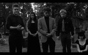 Photography by Kellen Jackson. In this photo from left to right: Patrick Horan, Alex Dawkins, Philip Geller Roland Meseck, Skye Hyndman
