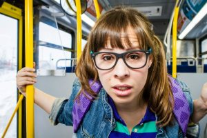 Birdie on the Wrong Bus. Actor pictured: Mari Chartier. Photo by Dave DeGagne of dbphotographics.ca