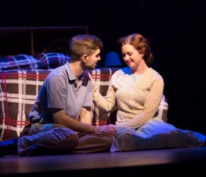 Rory Turner and Melissa Cunningham in Big Fish at the MacEwan Centre for the Arts. Photo credit: Madison Kerr.