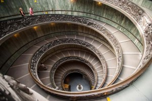 Staircase in the Vatican Museums