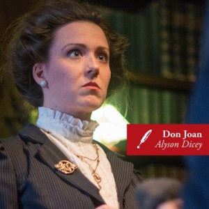 Alyson Dicey as Don Joan in Much Ado About Nothing. Photo credit: Nico Laroche-Humby