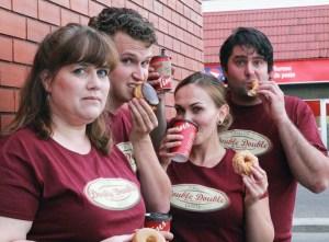 Kristen M. Finlay, Owen Bishop, Nadine Veroba, and Justin Deveau. Photo credit: Janine Hodder