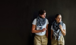 Evan Hall and Andréa Jorawsky in This is War. Photo credit: Mat Simpson