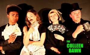 Kirkland Dorion, Kristi Hansen, Clarice Eckford, and Cody Porter in The Colleen Bawn. Photo supplied by Cody Porter.