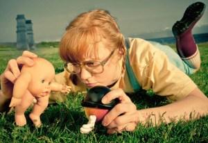 Ingrid Hansen in Little Orange Man. Photo credit: Al Smith
