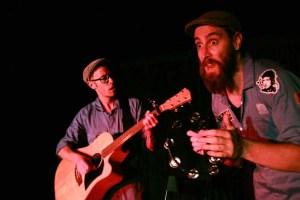 hane Adamczak and St John Cowcher in The Ballad of Frank Allen. Photo credit: Thea Fitz-James