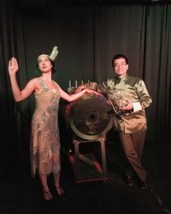 Bonita Akai and Kent Wong in Murder at the Magic Emporium. Photo credit Lisa Michetti