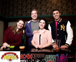 Next Thing You Know, Picture 1-From left to right, Johanna Reinberg, Liam Naughten, Olivia Ulrich, and Nick Xidos. Photo credit: Jordan Jenkinson Photography