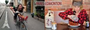 Paris-Edmonton at the Edmonton Fringe Festival. Photo credits: Paris (left side): Gabriel Reyberotte Edmonton (right side): Ariane Lemire