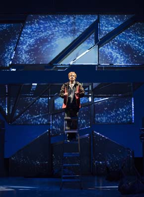 Edmund Stapleton in The Curious Incident of the Dog in the Night-Time at the Citadel Theatre. Photo credit: David Cooper
