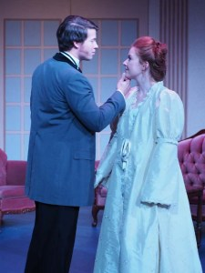 Patrick Maloney and Miranda Broumas in Lady Windermere's Fan. Photo credit Jessica Poole.