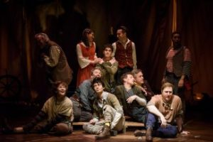 Ensemble of Peter and the Starcatcher at the Citadel Theatre. Photo credit Ian Jackson, Epic Photography. Copyright 2017.