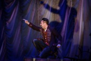 Farren Timoteo as Black Stache in the Citadel  Theatre's production of Peter and the Starcatcher. Photo credit Ian Jackson, Epic Photography. Copyright 2017.