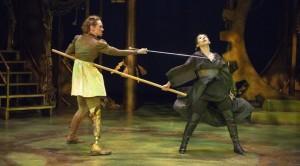 Women swordfighting